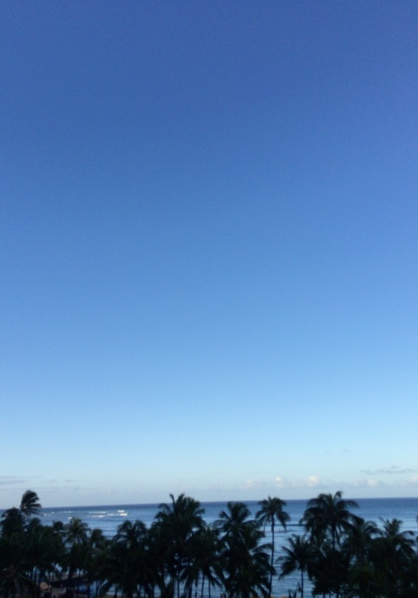 Hawaii blue sky